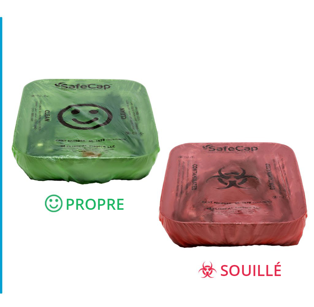 Green (Clean) and Red (Contaminated) Tray Liners